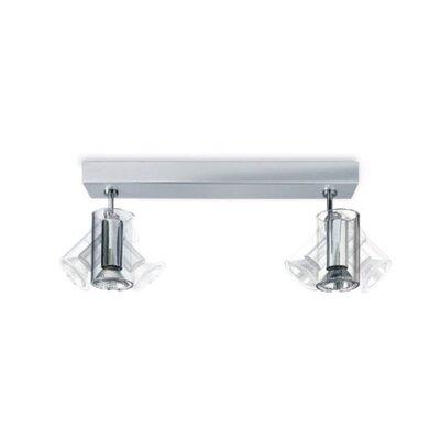 Zaneen Lighting TU-B Two Light Horizontal Ceiling Semi Flush Mount