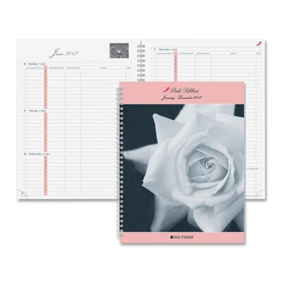 "Day-Timer® Pink Ribbon Refill, Wirebound, 2PPW, 8-1/2""x11"", Jan-Dec"