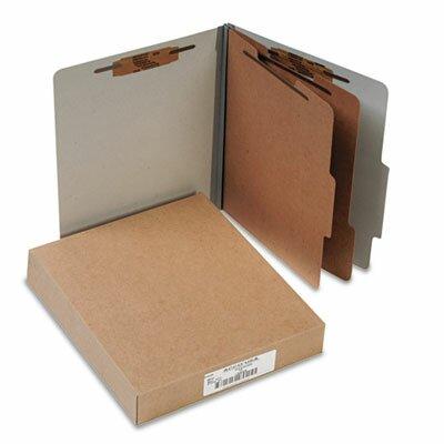 Acco Brands, Inc. Pressboard 25-Point Classification Folders, Ltr, 6-Section, Mist Gray, 10/box