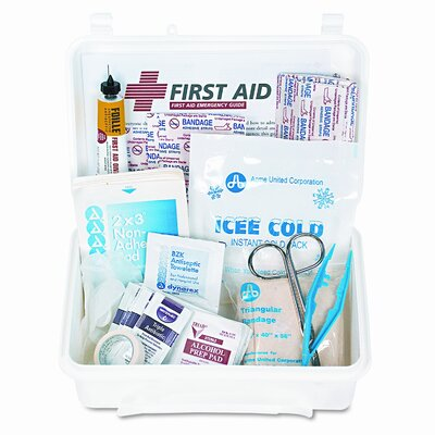 Acme United Corporation First Aid Kit with 70 Pieces in Plastic Case