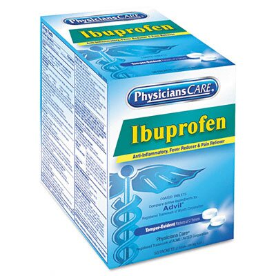 Acme United Corporation Physicianscare Ibuprofen Medication, 50 Doses of 2 Tablets