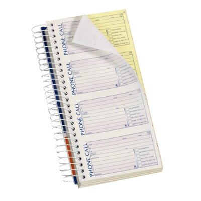 "Adams Business Forms Phone Message Book, 11""x5-1/4"", 600 St/Bk, 2013"