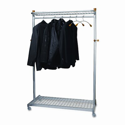 Alba Two-Sided Two-Shelf Garment Rack Product Photo