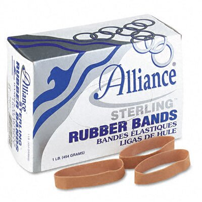 Alliance Rubber Sterling Ergonomically Correct Rubber Bands, #84, 3-1/2 X 1/2, 210 Bands/1Lb Box