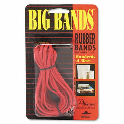 Alliance Rubber Big Bands, Rubber Bands, 7 X 1/8, 12/Pack