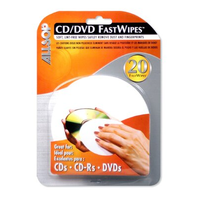 Allsop FastWipes 20 Lint-Free Wipes