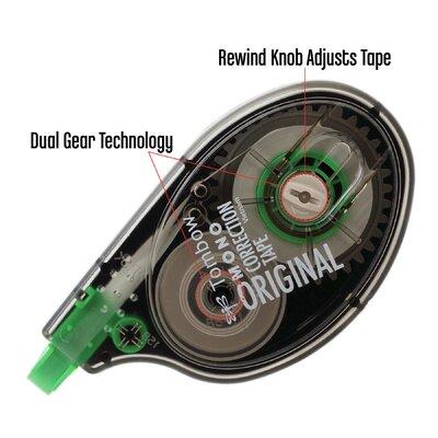 "Tombow Mono Correction Tape, Non-Refillable, 1/6"" X 394"", 4/Pack"