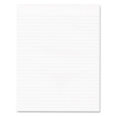 AMPAD Corporation Recycled Glue Top Pads, Wide Rule, Letter, We, 50-Sheet Pads, 12/Pack