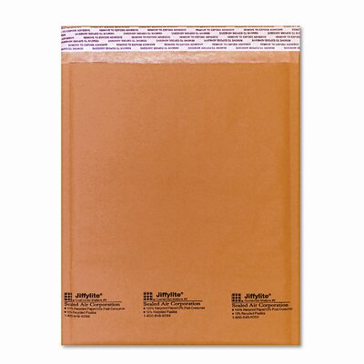 Sealed Air Corporation Jiffylite Self-Seal Mailer, Side Seam, #2, 10/Pack
