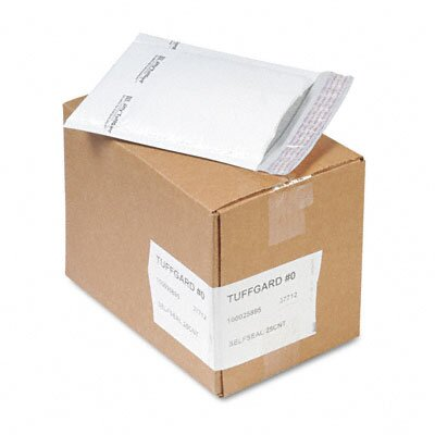 Sealed Air Corporation Jiffy Tuffgard Self-Seal Cushioned Mailer, #0, 25/Carton