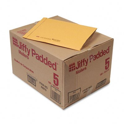 Sealed Air Corporation Jiffy Padded Mailer, Side Seam, #5, 100/Carton