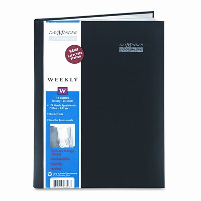 At-A-Glance Premiére Professional Weekly Appointment Book, 8 x 11, Black