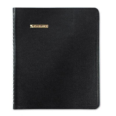 At-A-Glance Triple View Weekly/Monthly Appointment Book, 6-7/8 x 8-3/4, Black, 2014