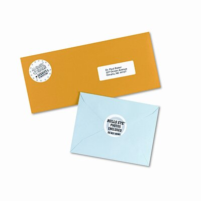 Avery Consumer Products High-Visibility Round Laser Labels, 600/Pack