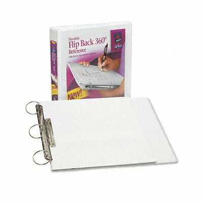 """Avery Consumer Products Durable Flip Back Round Ring View Binder, 1-1/2"""" Capacity"""