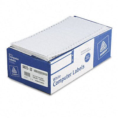 "Avery Consumer Products Dot Matrix Printer 1 Across Address Labels, 5"" Wide, 5000/Box"
