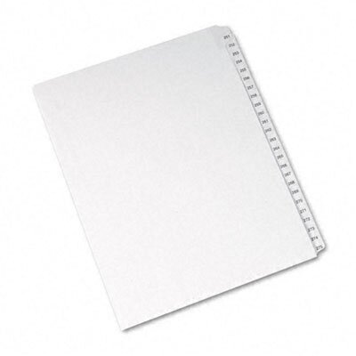 Avery Consumer Products Allstate-Style Letter Size Tab Dividers, 25-Tab, 251-275 Tab Title