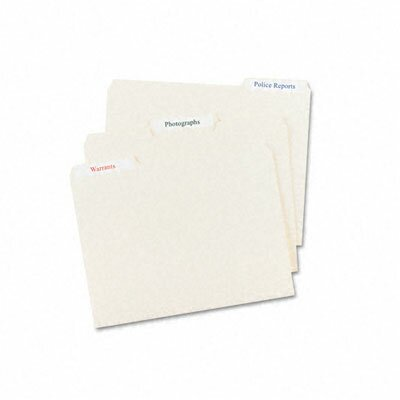 Avery Consumer Products Permanent Self-Adhesive Laser/Inkjet File Folder Labels (750/Pack)