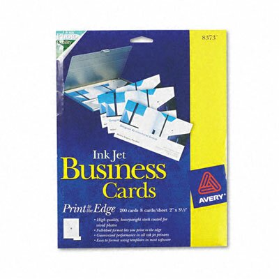 Avery Consumer Products Inkjet Glossy Business Cards (200/Box)