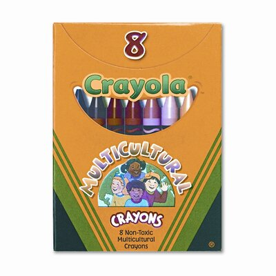 Crayola LLC Multicultural Crayons (8/Box)