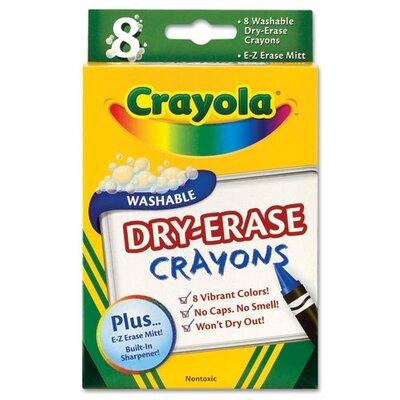 Crayola LLC Dry Erase Crayons, Assorted, 8 per Pack