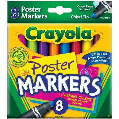 Crayola LLC Washable Poster Markers (8 Pack)