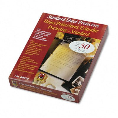 C-Line Products, Inc. Heavyweight Traditional Polypropylene Sheet Protector (50/Box)