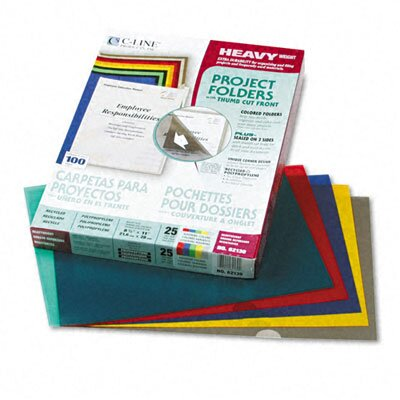 C-Line Products, Inc. Project Folders, Jacket, Letter, Poly, 25/Box