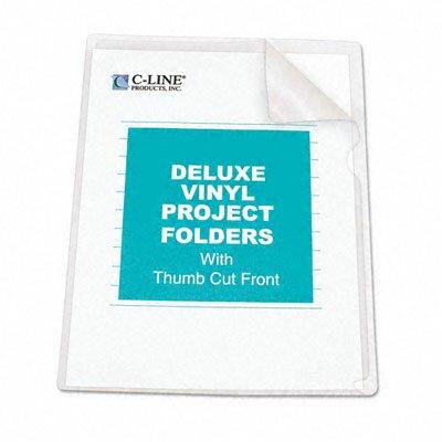 C-Line Products, Inc. Deluxe Project Folders, Jacket, Letter, Vinyl, 50/Box