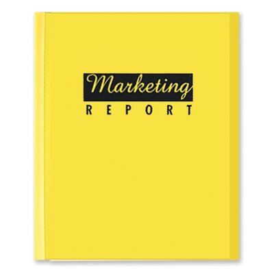 C-Line Products, Inc. Report Covers, w/ Binding Bars, 50/BX Yellow Vinyl