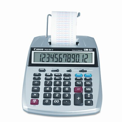 Canon P23-Dhv 12-Digit Two-Color Printing Calculator with 12-Digit Lcd)
