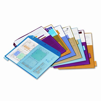Cardinal Brands, Inc Poly 2-Pocket Index Dividers, 8-Tabs/Set, 4 Sets/Pack