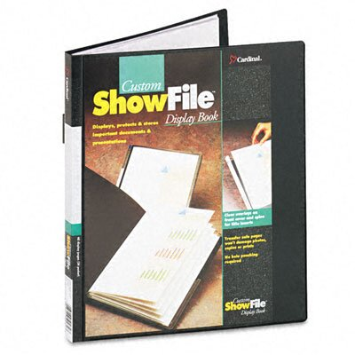 Cardinal Brands, Inc Showfile Display Book with Custom Cover Pocket, 24 Letter-Size Sleeves