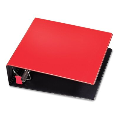 """Cardinal Brands, Inc D-Ring Binder, 3"""" Capacity, 11""""x8-1/2"""", Red"""