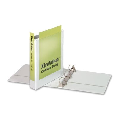 """Cardinal Brands, Inc Clear View Slant-D Ring Binders, 1-1/2"""" Capacity, White"""