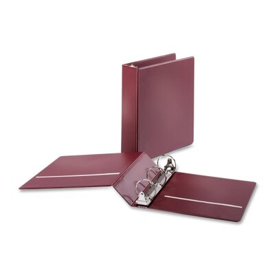 "Cardinal Brands, Inc Non-locking Round-ring Binders, w/ 2 Pockets, 2"" Capacity, Burgundy"