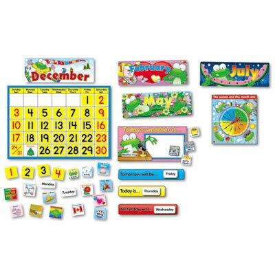 Carson-Dellosa Publishing Frog Calendar Bulletin Board Cut Out Set