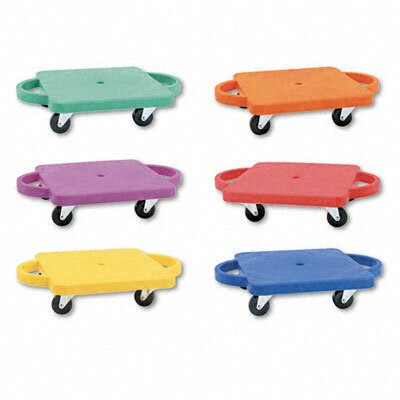 Champion Sports Scooter Set Wswivel Casters, Plastic/Rubber