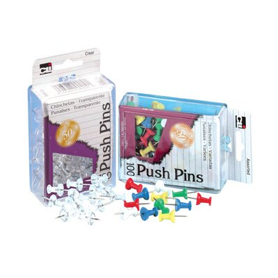Charles Leonard Co. Push Pins Clear