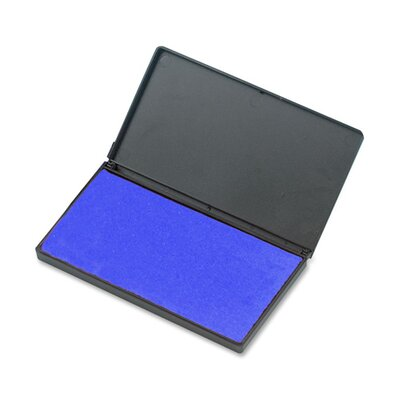 "Charles Leonard Co. Foam Ink Pad, 2-3/4"" x 4-1/4"", Nontoxic, Reinkable, Blue"