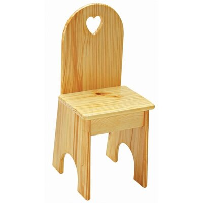 Heart Kid's Desk Chair by Little Colorado