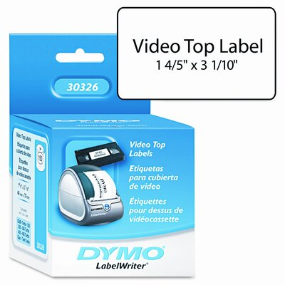 Dymo Corporation Vhs Top Labels, 150/Box