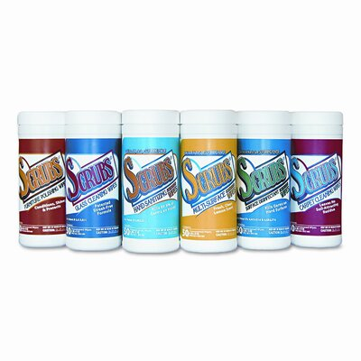 Dymon Scrubs Cleaning and Disinfecting Wipes, Cloth, 50/Canister, 6/Carton