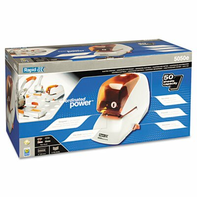 Elmer's Products Inc Rapid 5050E Heavy-Duty Flat Clinch Electric Stapler, 50-Sheet Capacity
