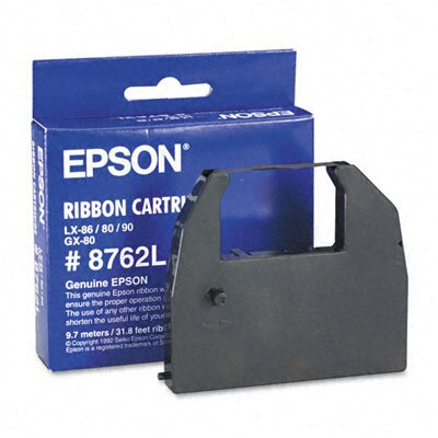 Epson America Inc. 8762L Printer Ribbon, Fabric, Black