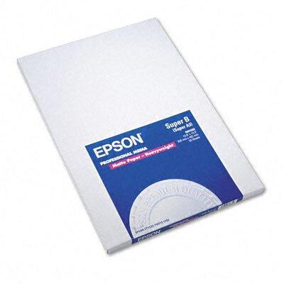 Epson America Inc. S041263 Premium Matte Presentation Paper, 45 Lbs., 13 X 19, 50 Sheets/Pack
