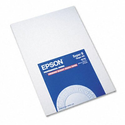 Epson America Inc. S041289 Premium Photo Paper, 68 Lbs., 13 X 19, 20 Sheets/Pack