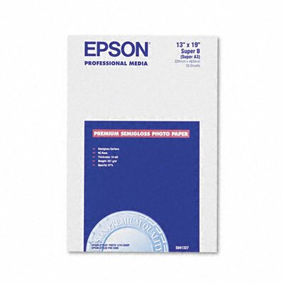 Epson America Inc. S041327 Premium Photo Paper, 68 Lbs., 13 X 19, 20 Sheets/Pack