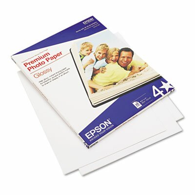 "Epson America Inc. S042183 High-Gloss Premium Photo Paper, 8.5"" x 11"", 25 Sheets/Pack"