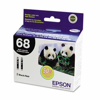 Epson America Inc. T068120D2 High-Yield Ink, 2/Pack